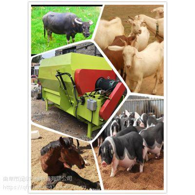 立式小型青干草搅拌机 型号齐全电力足混料机 5吨产量tmr搅拌机