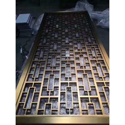 304拉丝玫瑰金不锈钢屏风定制厂家直销