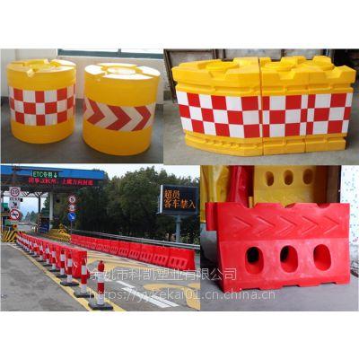 池州高速公路隧道口高强度滚塑水马警示性强 防撞桶效果好
