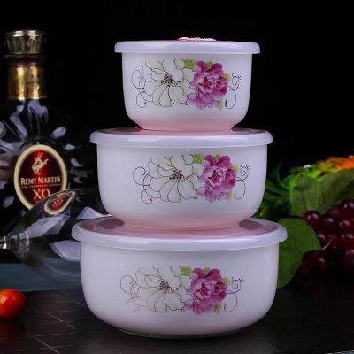 优选陶瓷保鲜碗 家用套装饭盒 带盖保鲜盒 密封学生便当盒 泡面碗