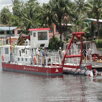 广西抽沙船设备出口组装下水实验,供应广西3500方流量抽沙船
