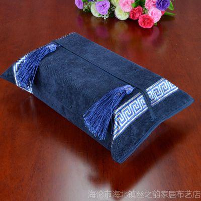 欧式美式新古典现代奢华家居布艺系列装饰纸巾套纸巾盒套