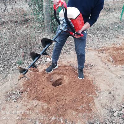 华晨批发大棚埋桩立柱打洞机 树木种植挖坑机 果园施肥打眼机