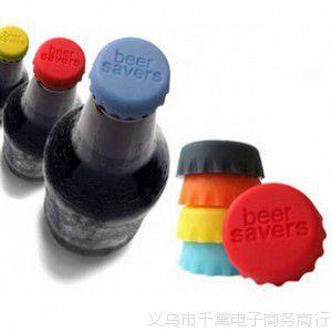 创意硅胶酒瓶盖 饮料盖 红酒盖 调味瓶盖 可乐瓶盖 6个装批发