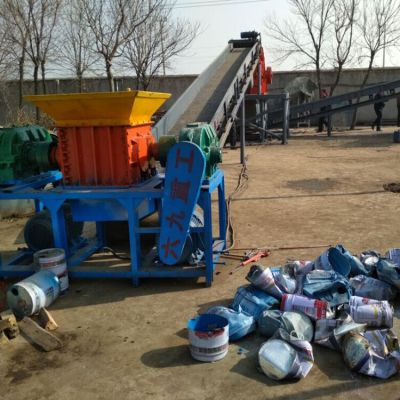 垃圾撕碎机设计制造技术实心轮胎破碎机 便于携带