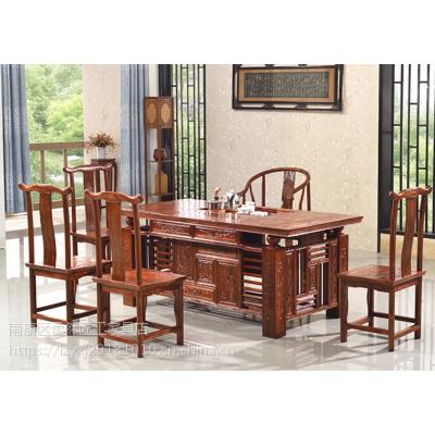 1.8米迎宾茶台南榆木茶台厂家中式功夫茶桌古典客厅家具榆木茶桌