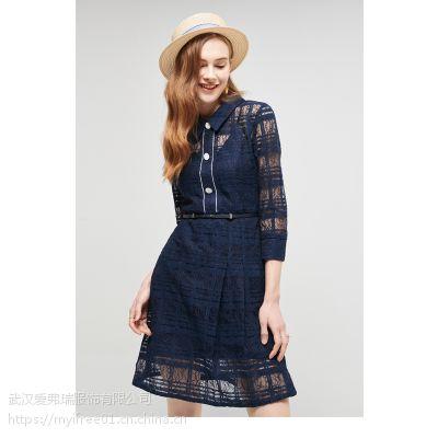 【代卖】开服装店拿货价卓娅佳人拼色条纹裙