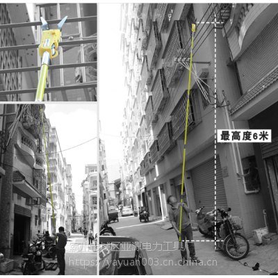 亚源架空挂线缆神器 线缆施工架线整理工具 电缆挂线器 光缆附挂机