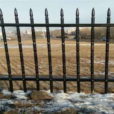 社区铁艺围墙 塑钢栅栏 美观大方安装便捷
