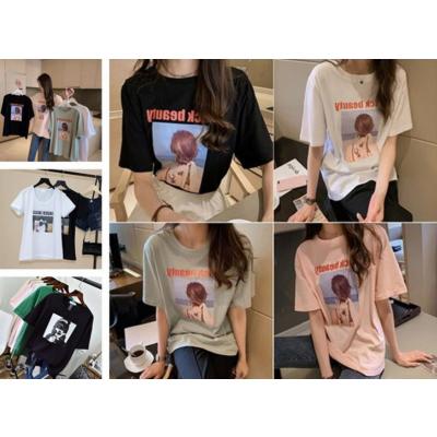 女士T恤夏季女装短袖便宜杂款T恤特价女士上衣广州服装基地一手货源批发