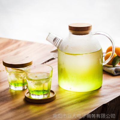 玻璃壶凉水壶耐高温大冷水壶家用防爆凉水壶耐高温大容量玻璃水壶