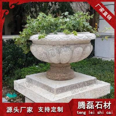 物美价廉 惠安九龙星园林景观大理石石雕花钵定制