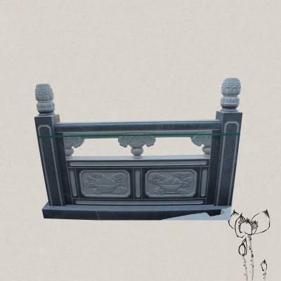 石桥栏板护栏 天然石材质量上乘 可定制多种高度石雕栏杆临河石栏杆