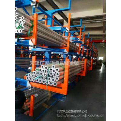 唐山重型悬臂货架案例 伸缩式钢材货架特点 石油企业仓储专用