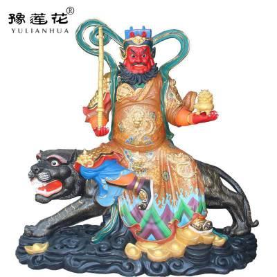 黑虎玄坛赵公明元帅神像图片河南南阳豫莲花佛像厂家