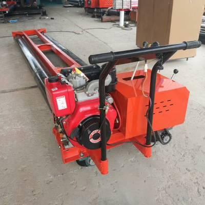 两滚轴混凝土摊铺机 电动水泥整平机 6.5米混凝土摊铺机厂家