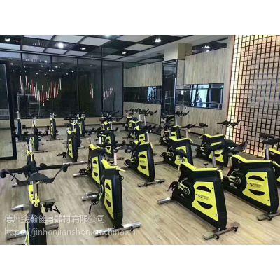 健身房专用二代动感单车商用动感单车家用全包静音健身单车金瀚健身器材
