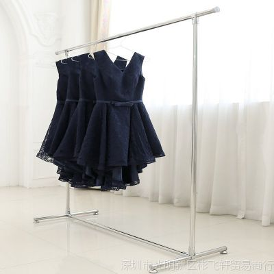 晾衣架简易室内不锈钢挂衣架 家用落地伸缩单杆式阳台晒衣架