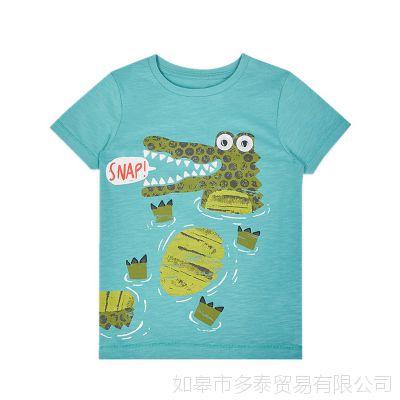 ins爆款韩版童装儿童短袖t恤纯棉卡通上衣一件代发速卖通爆款批发