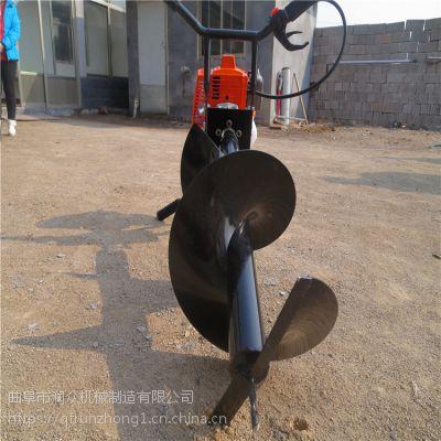 直径可定制挖坑机 80厘米深度打坑机 高效耐用挖坑机汽油