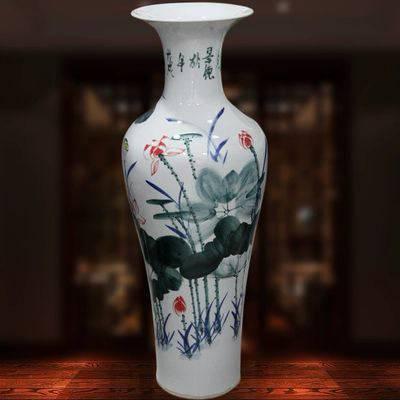 新中式插花装饰大花瓶 客厅家居陶瓷落地花瓶