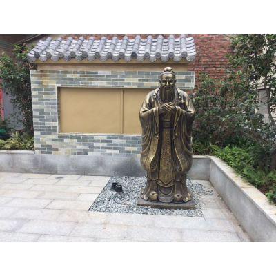 玻璃钢仿铜人物雕塑造型 乡村仿古人物雕塑制品