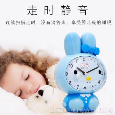 闹钟创意学生床头夜光儿童卡通可爱静音卧室会说话多功能小闹钟