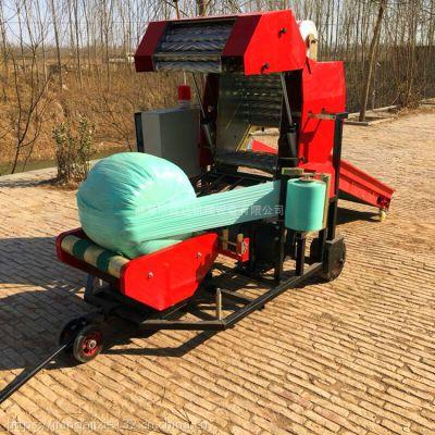 青贮打捆机 干湿秸秆粉碎打捆包膜机 畜牧养殖场饲料打捆机