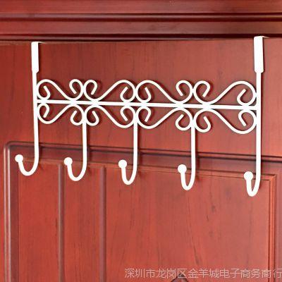 门后挂钩卧室排创意门后铁艺加厚房门挂衣架门上收纳欧式免钉挂架