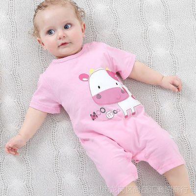 0女宝宝1夏装2-3男4婴儿5连体衣服6睡衣7哈衣8到9个月爬服一周岁