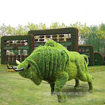 仿真绿雕造型,异形雕塑 大型景区凤凰雕塑造型