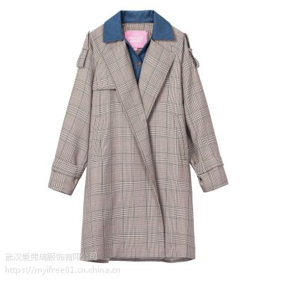 女装折扣走份雅戈美黛19年春装新款风衣外套