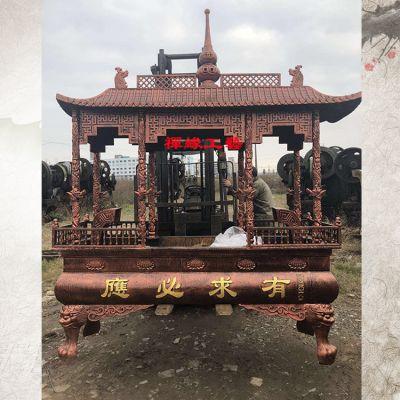 供应铸铁长方形八龙柱香炉 道观庙宇香炉价格