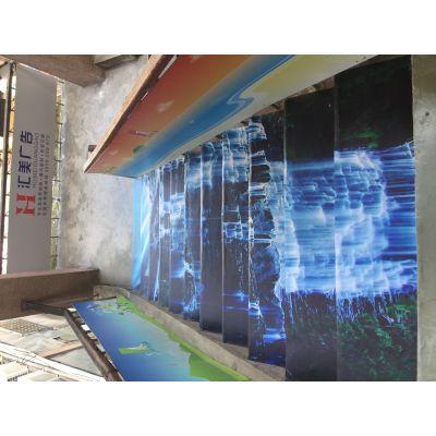 深圳玻璃门窗UV贴纸广告文字玻璃门防撞条腰线