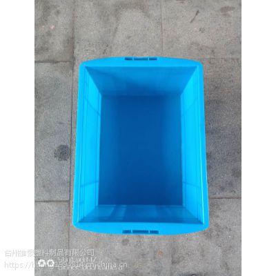 供应加厚大号塑料600周转箱可堆式运输筐仓库收纳整理框可配盖养鱼龟胶箱