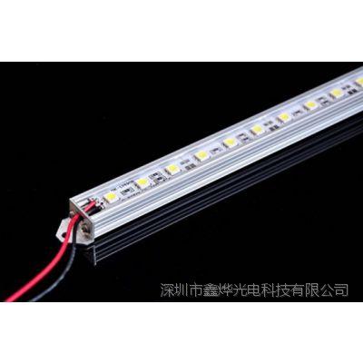 LED5050硬灯条 带铝槽 12V每米60颗 珠宝柜台专用 厂家直销