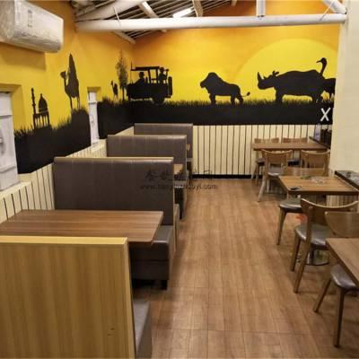 黔南州奶茶店家具订做,奶茶店沙发桌子案例实拍