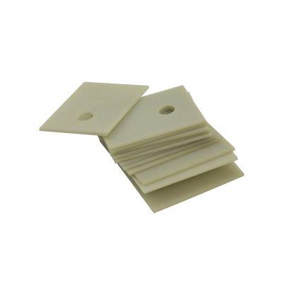 氮化铝陶瓷片现货供应 大功率电源导热陶瓷垫片 散热绝缘陶瓷片 IGBT散热陶瓷