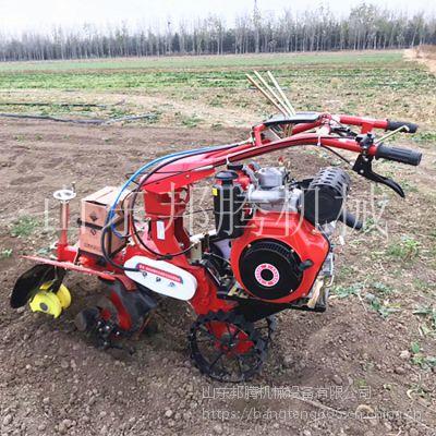 邦腾土豆种植开沟培土机 手推式打葱沟机 多功能菜园起沟机效果可靠