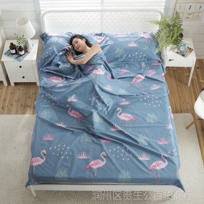 旅游用品旅行睡袋纯棉旅行床单隔脏便携式薄款室内卫生睡袋
