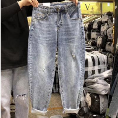 南宁批发夏季牛仔裤去广东哪里找十元牛仔裤批发库存服装几元一条时尚牛仔裤货源