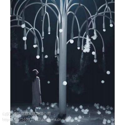 抖音同款cos互动艺术New Spring 会吐泡泡的树梦幻烟雾泡泡树