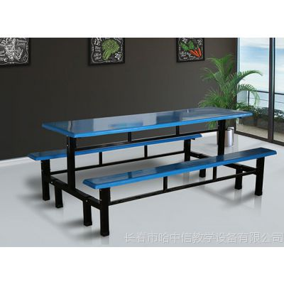 四平钢木餐桌选哈中信工厂
