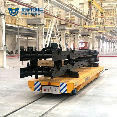 供应非标设计定制轨道平板小车 电动搬运车 拖电缆轨道平车 帕菲特
