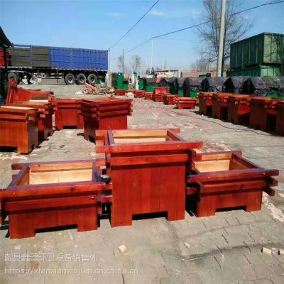 腐木花箱户外园林绿化树箱生产厂家