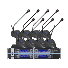 ABS-8018UT一拖八无线调频UHF会议手持无线话筒,多只同时使用不串频拾音好轻松入咪