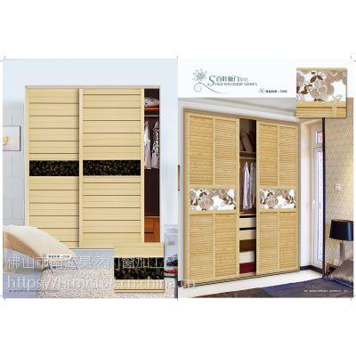 移门厂家木塑百叶衣柜门定做 衣柜塑钢门现代简约 推拉门定制百叶移门