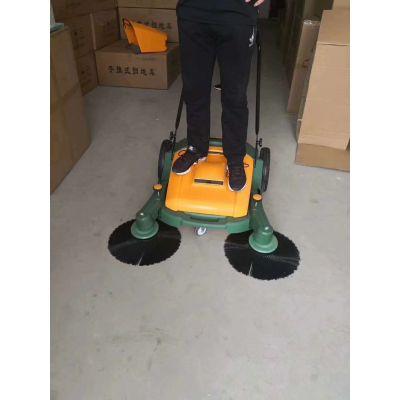 供应小型手推式无尘扫地机无动力清洁设备再生塑料环保扫地车厂家-星然环保