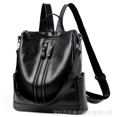 2017新款双肩包 女韩版休闲百搭时尚女包袋 潮书包旅行背包一件起