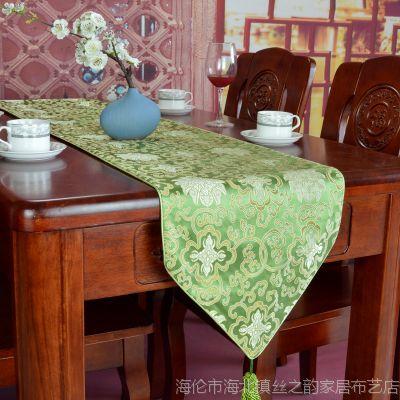 桌旗 中式奢华简约丝绸织锦酒店/家居/会所用可订